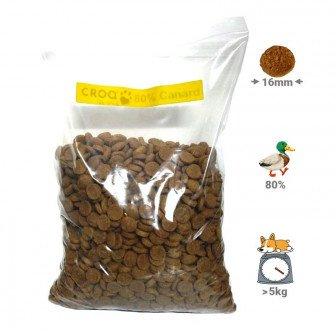 Croquettes pour chien Echantillon 4.5 kg. Croquettes chien naturelles 80% canard